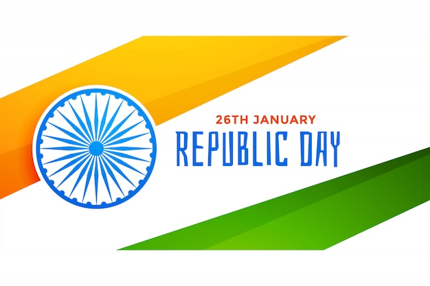 Stylish indian flag for republic day