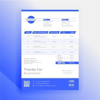 Stylish invoice bill template