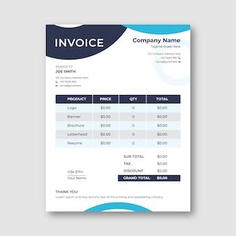 Stylish invoice template design