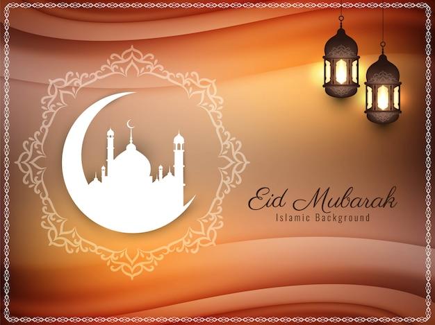 Stylish islamic eid mubarak elegant background