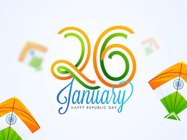Stylish lettering of 26 january