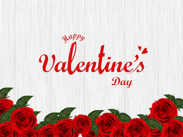 Stylish lettering of valentine's day on wooden texture backgroun