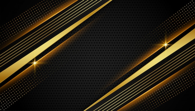 Stylish linear black and golden abstract
