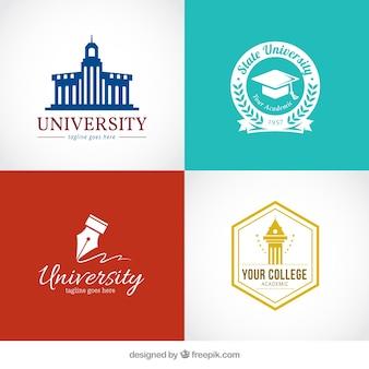 Stylish logos for university