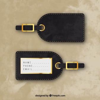 Stylish luggage tag Free Vector