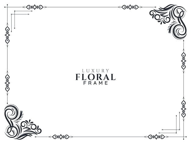 Stylish luxury floral frame design background