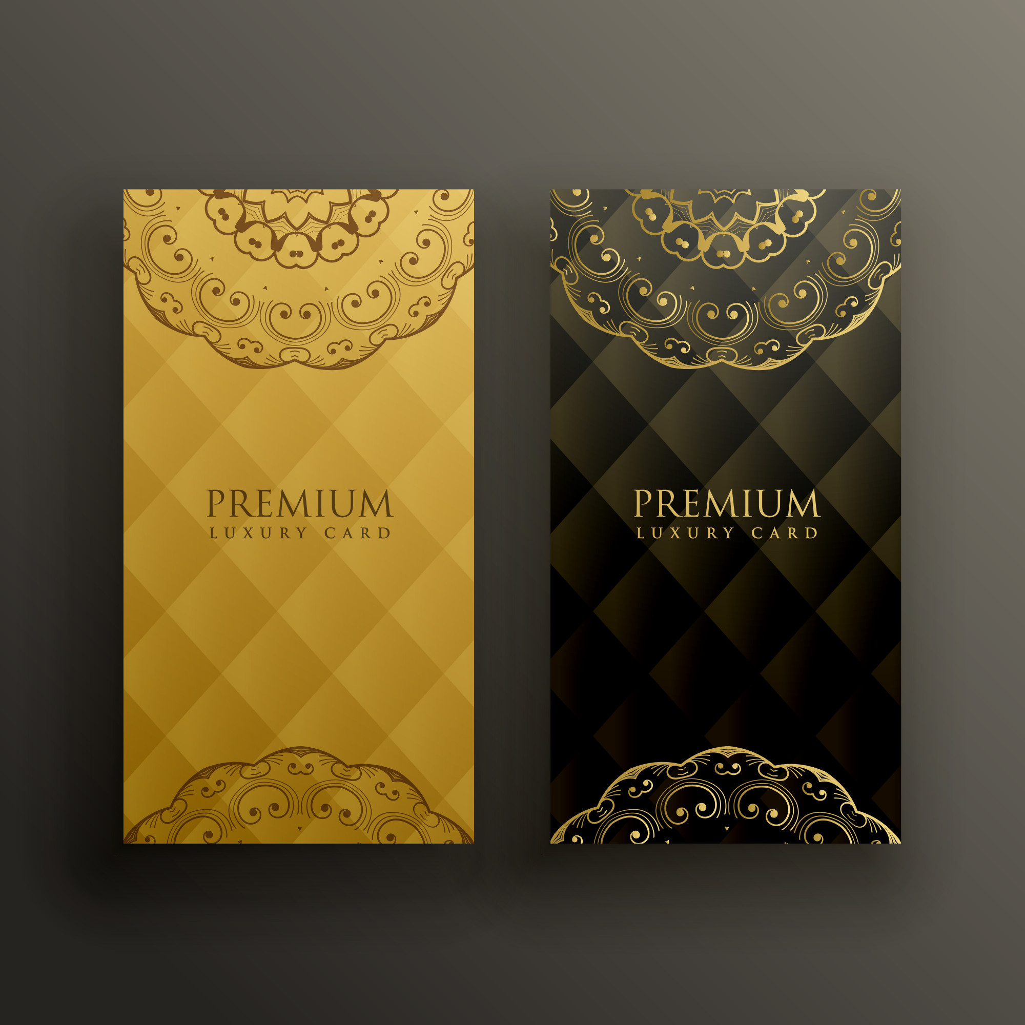 Stylish mandala premium golden card design