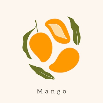 Stylish mango vector design.