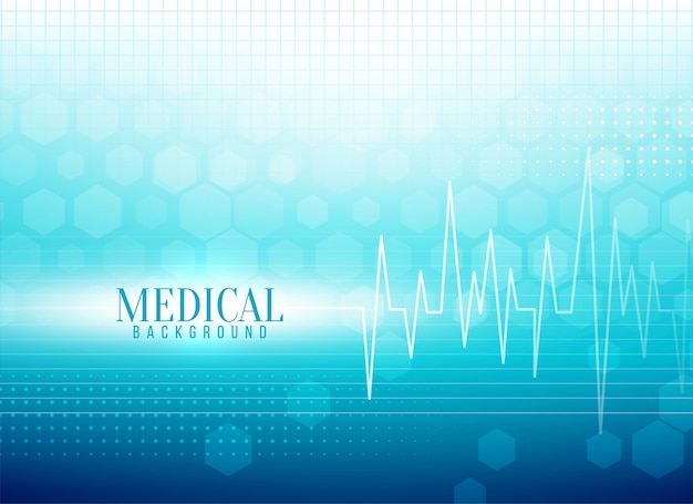Stylish medical background with life line