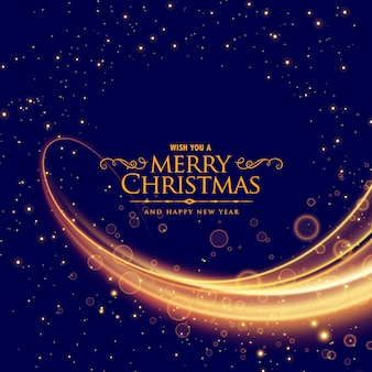 Stylish merry christmas background with glowing wave effect