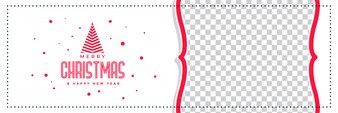 Stylish merry christmas banner with image space