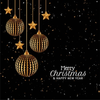 Stylish merry christmas elegant modern background