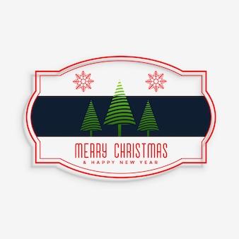Stylish merry christmas label design