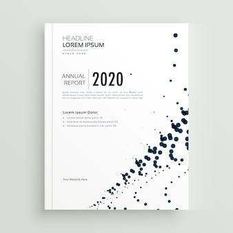 Modello di progettazione opuscolo astratto elegante punti minimal