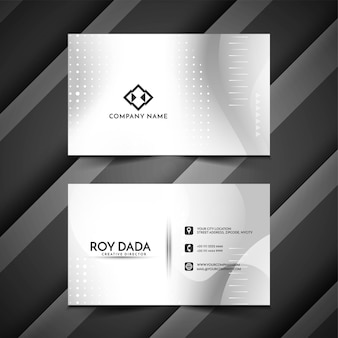 Стильная минималистичная визитка серого цвета