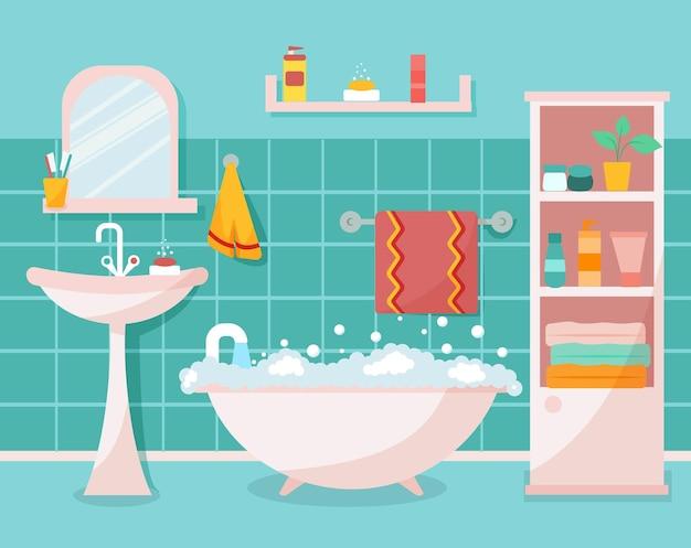 세련되고 현대적인 욕실 인테리어입니다. 싱크대, 수도꼭지, 수건, 선반, 옷장, 거울.