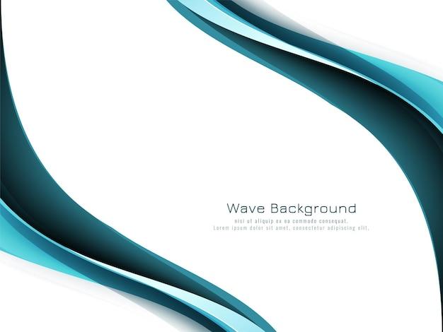Stylish modern blue wave background