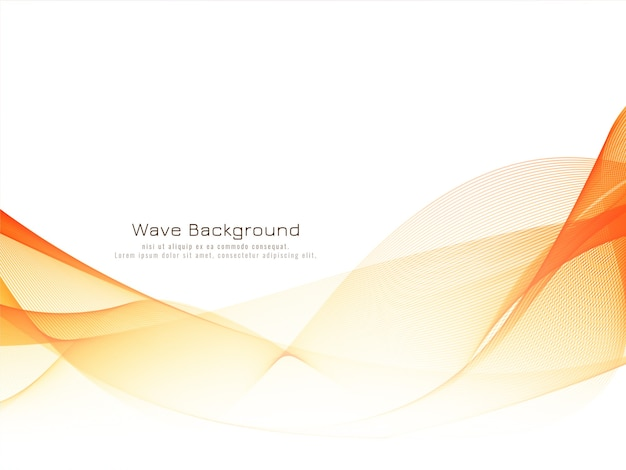 Stylish modern bright wave background