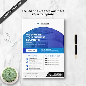 Stylish and modern business flyer template