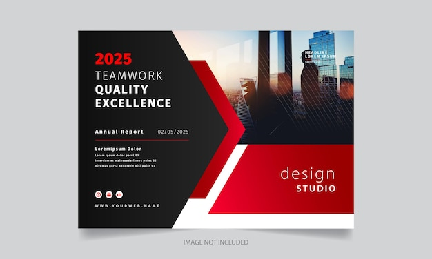 Stylish modern creative brochure design template
