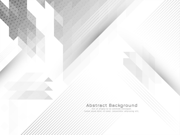 Stylish modern gray and white geometric background vector