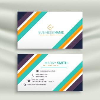 Стильный современный дизайн визитной карточки