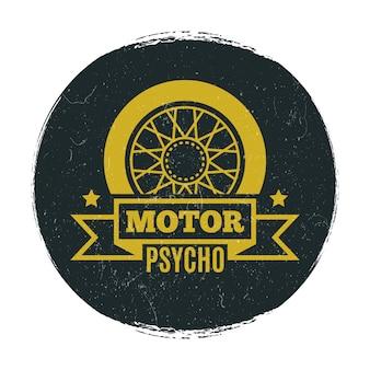 Stylish motor grunge emblem
