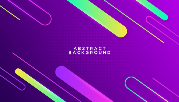 Stylish neon colorful background design