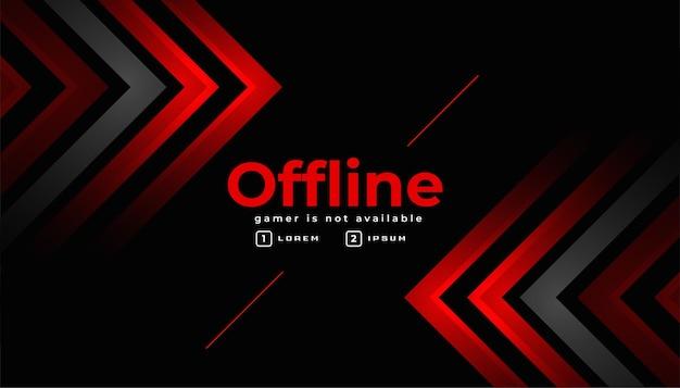 Elegante modello di banner di gioco offline