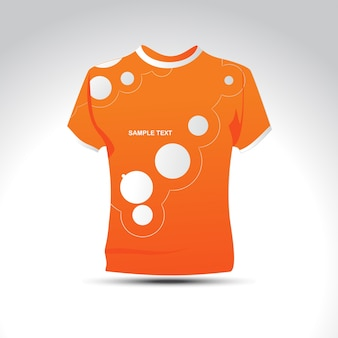 Stylish orange color t-shirt design