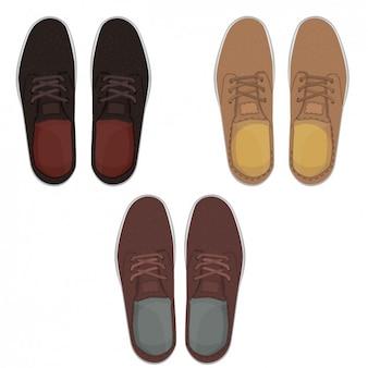 靴のコレクションのスタイリッシュなペア