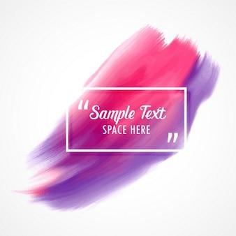 Стильный розовый и фиолетовый акварель краска