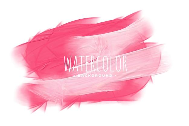 세련 된 핑크 그늘 수채화 페인트 질감 배경
