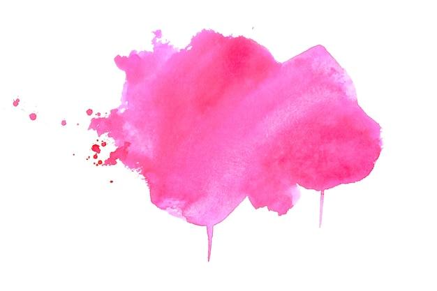 Стильная розовая акварель пятно текстуры фона