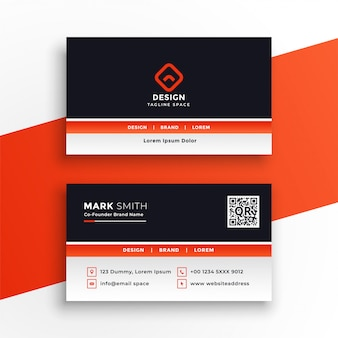 Stylish professional orange business card design