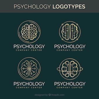 Stylish psychology logo collection