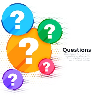 Stylish question mark web help and support template