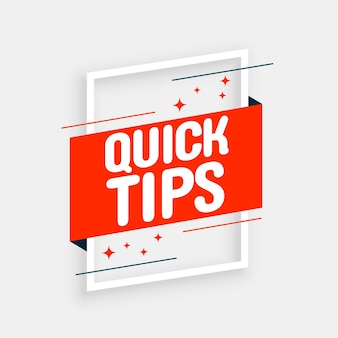 Stylish quick tips advice background