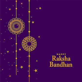 Stylish raksha bandhan festival background with rakhi