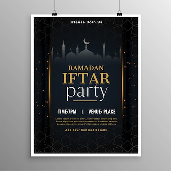 Stylish ramadan iftar party invitation template