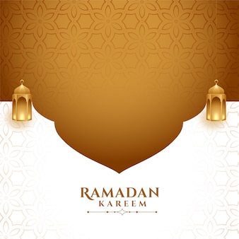 Stylish ramadan kareem background with text space