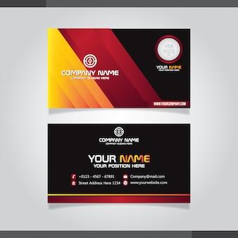 Стильный красный и оранжевый креативный дизайн визитной карточки