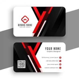 Stylish red professional business card template
