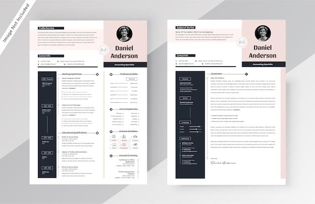 Stylish resume cv template
