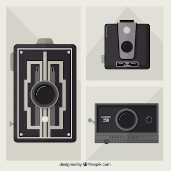 Stylish retro cameras set