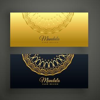 Stylish set of mandala banners