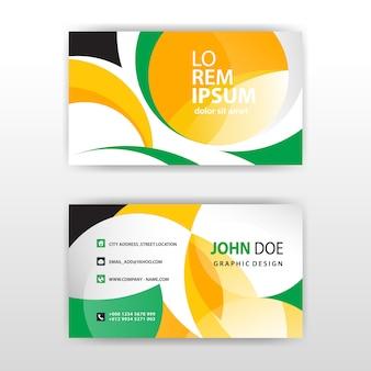 Stylish shapes business card