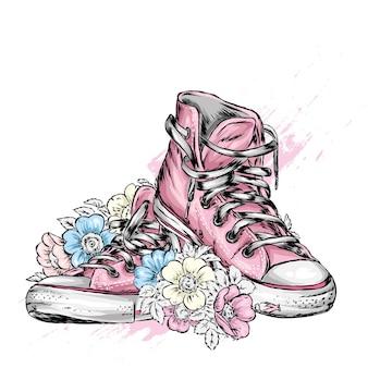 Стильные кроссовки на шнурках