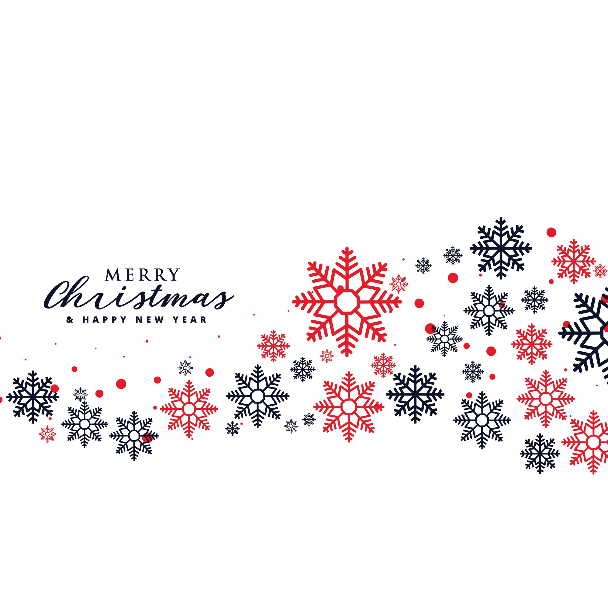 Stylish Snowflakes Background For Christmas Holiday Season