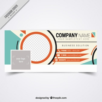 Stylish social media cover for business